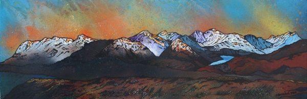 Scottish painting & prints of Beinn Dearg Monaliath, Scottish highlands.