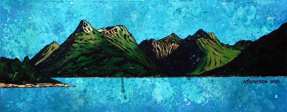 Painting & prints of The Pap of Glen Coe and Bidean nam Bian, Argylle, Scotland.