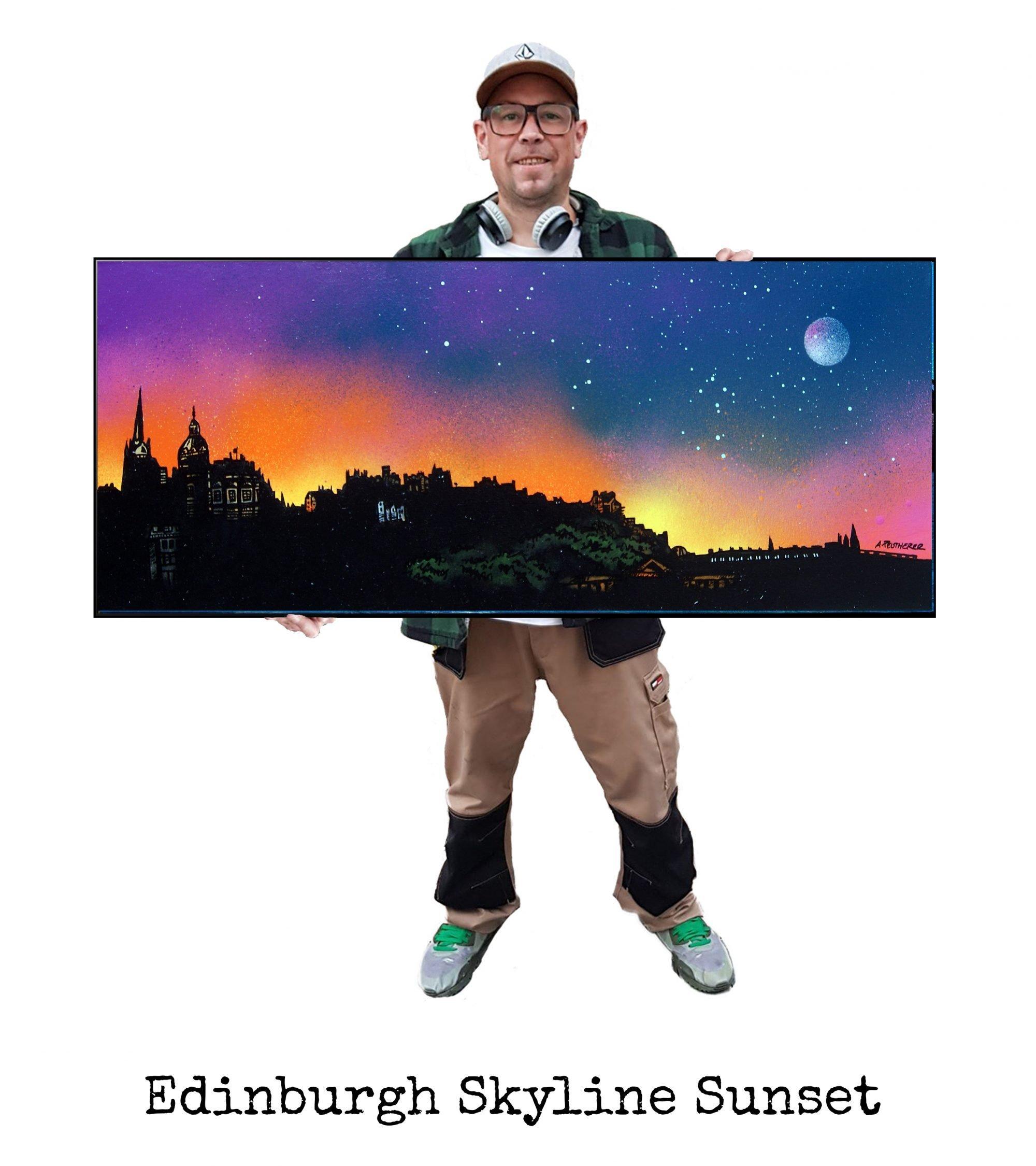 Edinburgh Sunset - Original Painting & Various Print Formats
