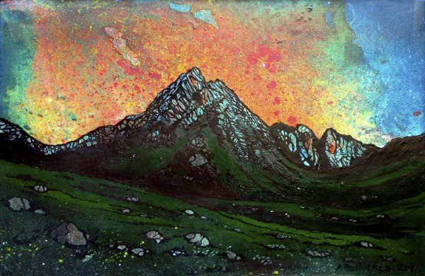 Glen Rosa Sunset, Arran, Scotland - Prints of painting by A Peutherer