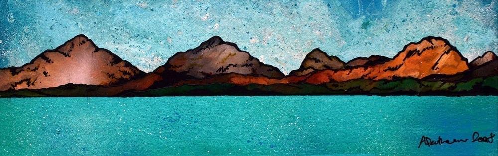 Painting & prints of Seilebost, The Isle of Harris, Scotland.