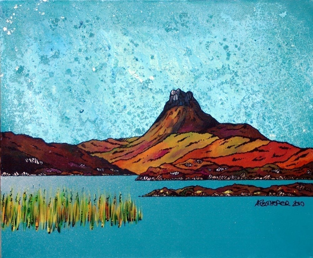 Scottish painting & prints of Stac Pollaidh, Torridon, Scottish Highlands