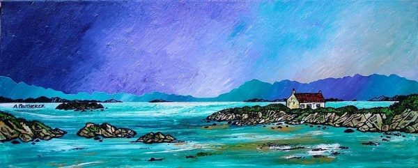 Barra painting & prints, Hebrides, Scotland - by Scottish landscape painter Andy Peutherer