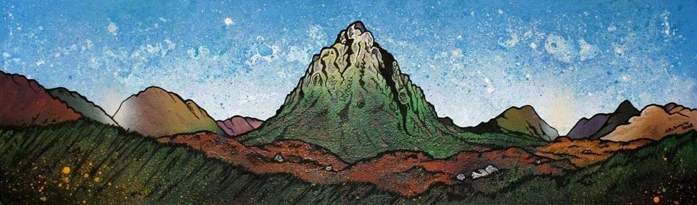 Paintings & prints of Buachaille Etive Mor.3, GlenCoe, Scottish Highlands