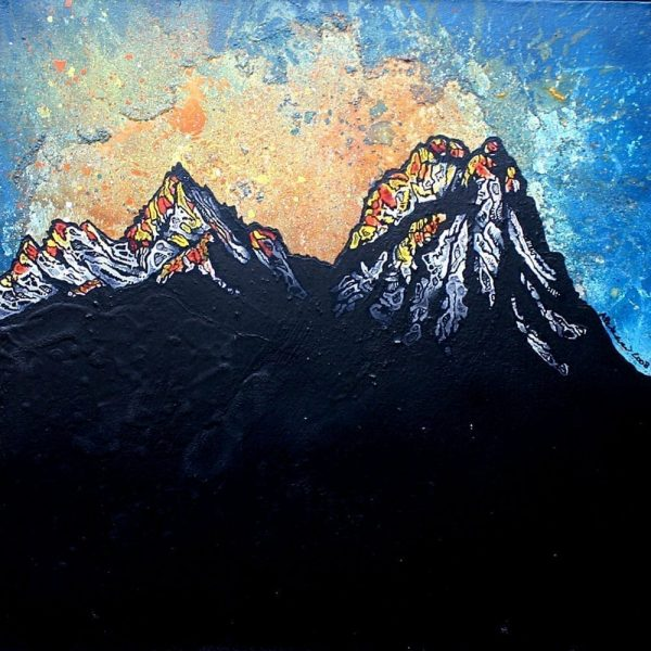 Painting & prints of the Cuillin Winter Sunset, Cuillin, Isle Of Skye, Scotland