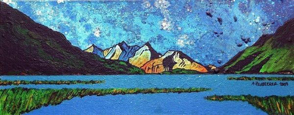 Contemporary Scottish fine art paintings, prints and greetings cards of Loch Etive, Argyll and Bute, Scotland.