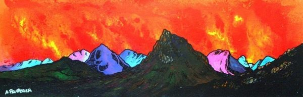 Paintings & prints of Glencoe and Buachaille Etive Mor, Glencoe, Scotland.
