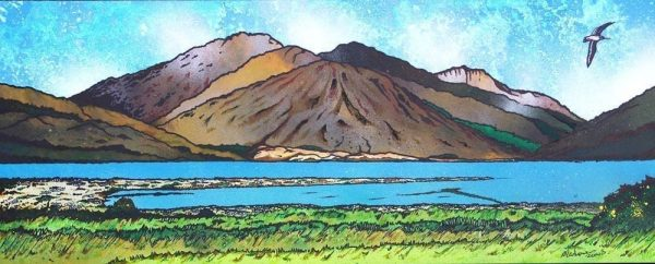 Painting & prints of Glen Elg , West Coast of Scotland overlooking The Isle of Skye
