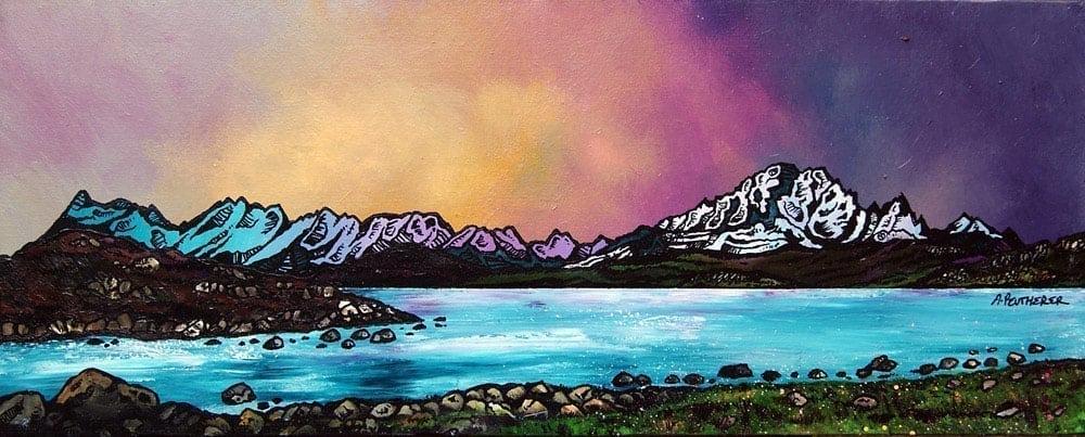 Painting & prints of Ord Bay, Isle Of Skye, Scottish Western Isles.