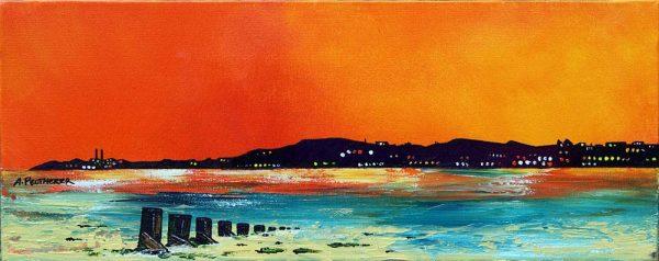 Scottish painting & prints of Portobello Beach, Edinburgh, Scotland.