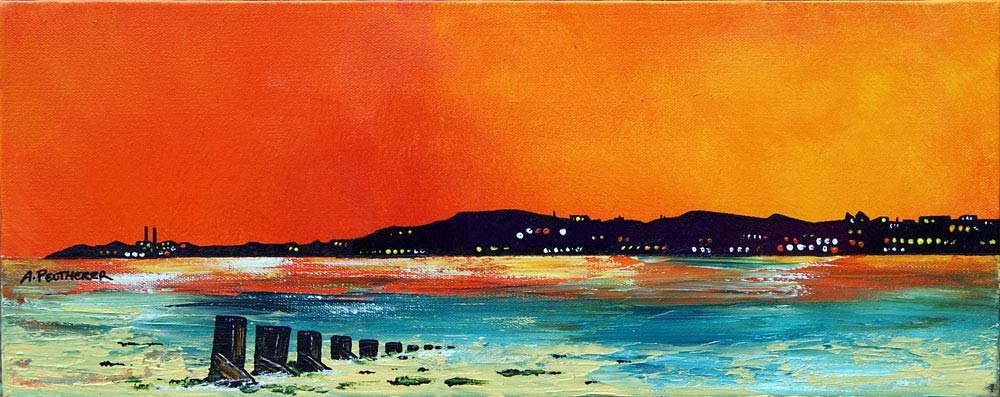 Scottish painting & prints of Portobello Beach, Edinburgh, Scotland.