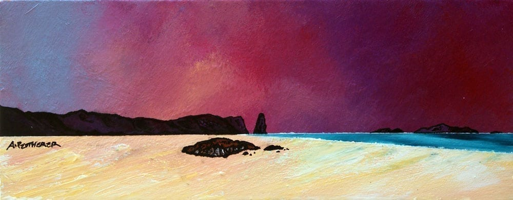 Scottish painting & prints of Sandwood Bay Summer Sky, Sutherland, Scotland.