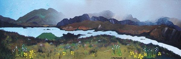 Over Loch Seaforth, Isle Of Harris, Outer Hebrides, Scotland - Prints of an original Scottish Landscape Painting