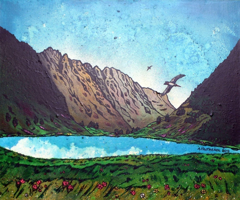 Paintings & prints of The Aonach Eagach Ridge, Glen Coe, Scotland.