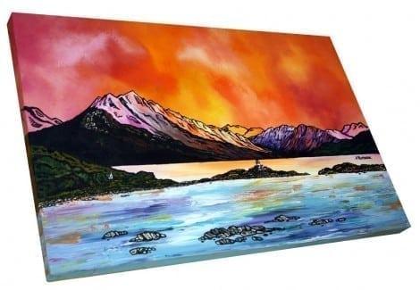 Skye painting & prints - Ben Sgritheal & Isle Ornsay, Scotland