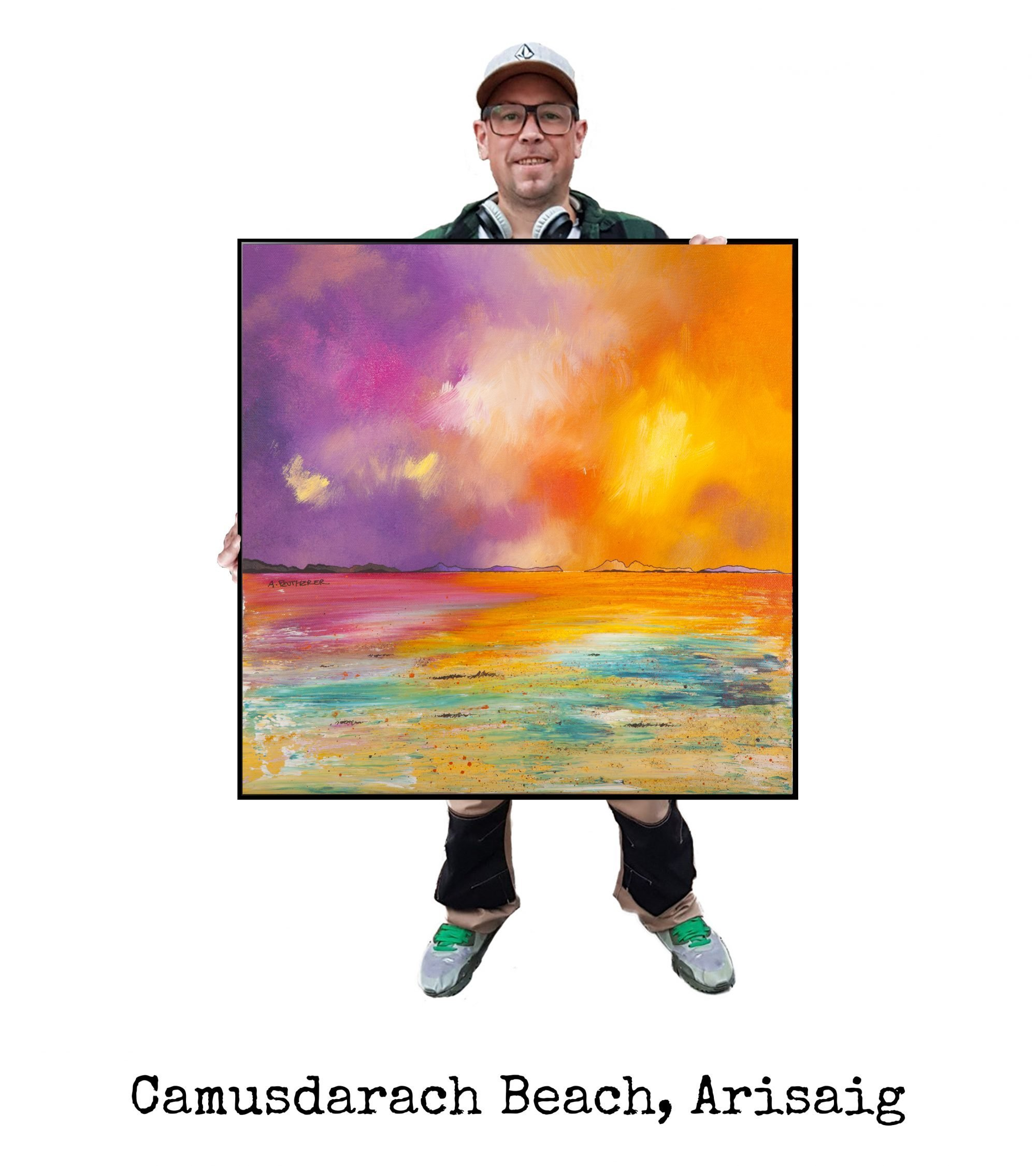 Camasdarach Beach, Arisaig Painting & Art Prints - Scottish Art by A Peutherer