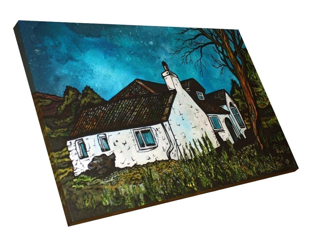 Commissioned painting of a clients cottage in The Scottish Highlands