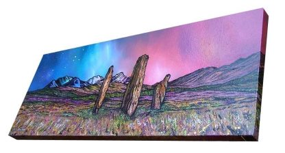 Scottish painting & prints of Machrie Moor Standing Stones, Isle of Arran, Ayreshire, Scotland