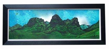 Scottish landscape framed painting of The Three Sisters Of Glencoe, Highlands, Scotland.