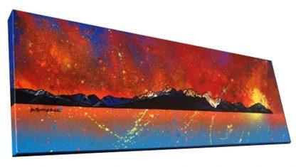 Arran Painting & prints - Sleeping Warrior at sunset, Isle of Arran