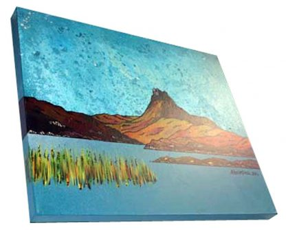 Painting of Stac Polly, Scottish Highlands.
