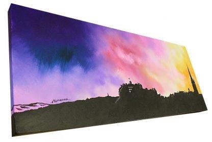 Edinburgh Skyline painting and prints