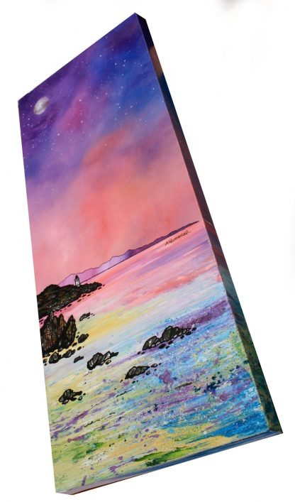 Contemporary Scottish landscape painting of Islay Lighthouse, Inner Hebrides, Scotland.