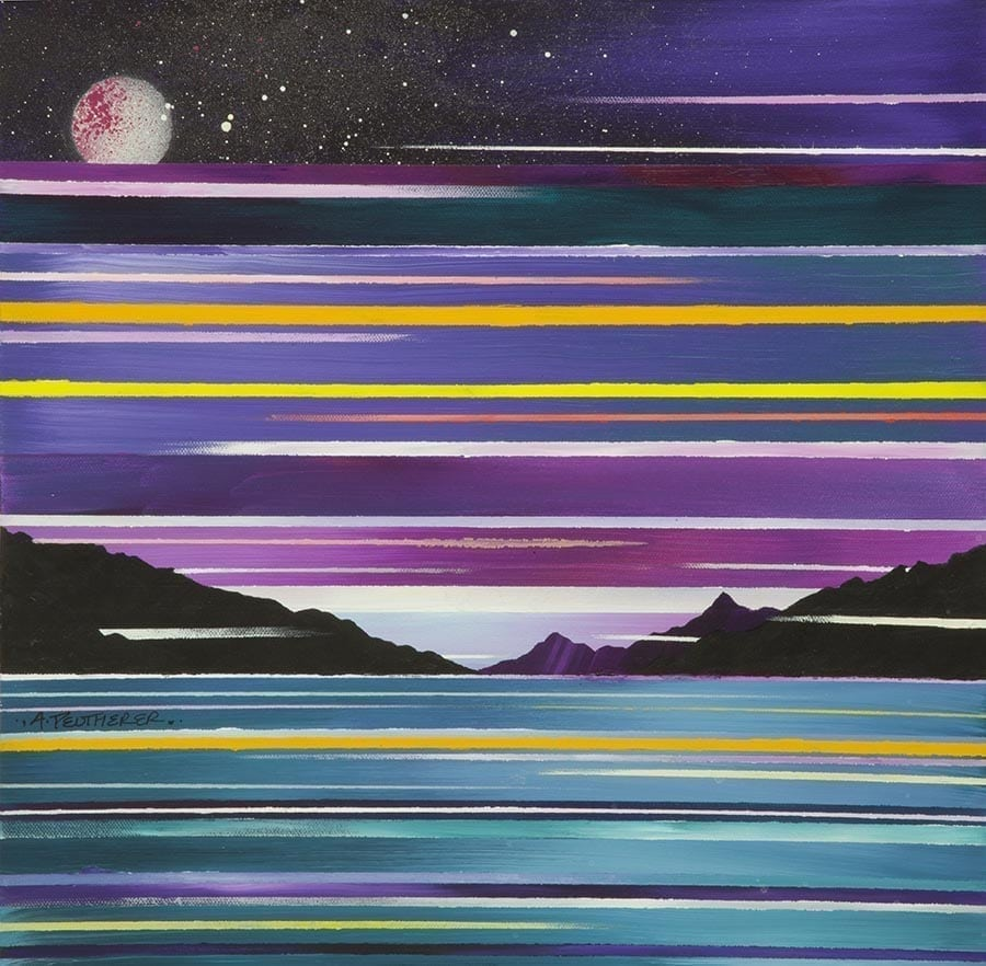Scottish painting & prints of Knoydart from Loch Hourn, Scottish Highlands