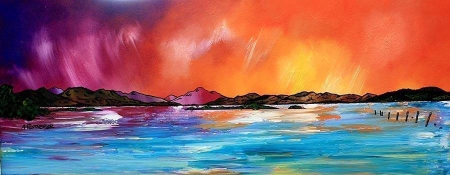 Loch lomond-painting-print-Scotland-art-Scottish-Luss