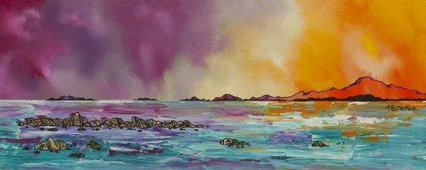 painting & prints of The Western Isles, Scotland by Scottish artist A Peutherer
