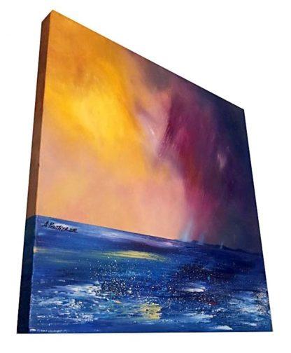 Canvas Painting of Tiree, Scotland.