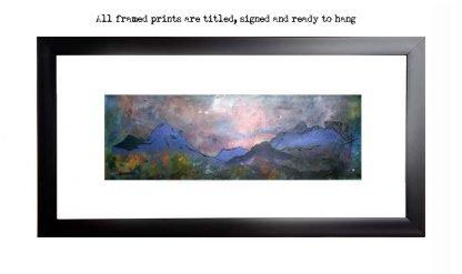 Framed print of Glen Sligachan, Isle Of Skye, Scotland.