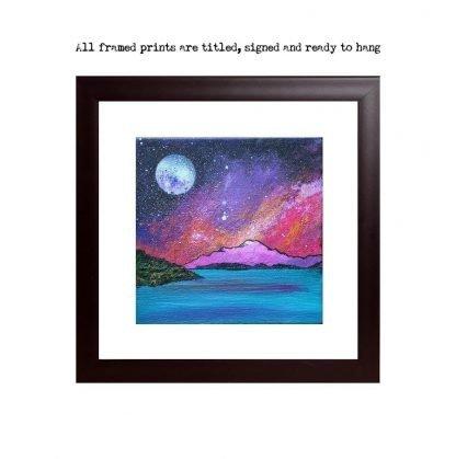 Framed print of Ben Lomond Pink Winter Sunset, Loch Lomond, Scottish Highlands.