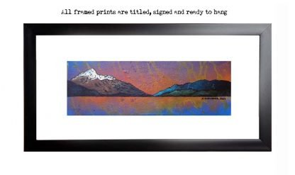 Framed print of Ben Lomond Autumn Sunset, Loch lomond, The Trossachs, Scotland.