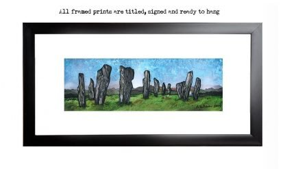 Framed print of The Callanish Standing Stones, Calanais, Isle Of Lewis, Outer Hebrides, Scotland.