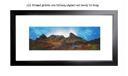 Framed print of the cobbler, Arrochar, Scottish highlands.