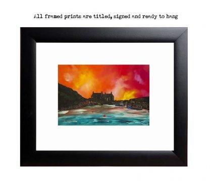 Framed print of Cove Bay, Lothian, Scotland