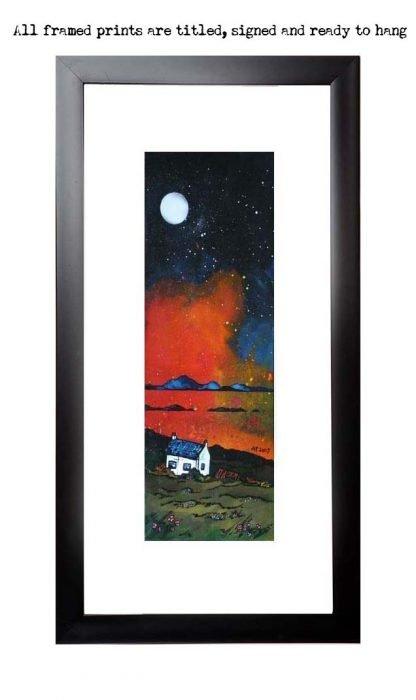 Framed print of Hebridean Croft Sunset, Scottish Western Isles.