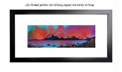 Framed print of Elgol, cuillin, Loch Scavaig, Isle Of Skye, Inner Hebrides, Scotland. By contemporary Scottish artsit A Peutherer