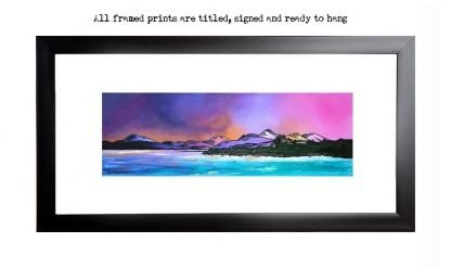 Framed print of Duart Castle Winter Sky, Isle Of Mull, Scottish Inner Hebrides.