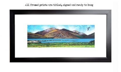 Framed prints of Glen Elg , West Coast of Scotland overlooking The Isle of Skye