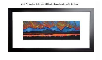 Framed print of The Paps of Jura from the Isle of Islay, Scottish Inner Hebrides, Scotland