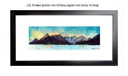 Framed print of Glencoe from loch Leven, Scottish Highlands.