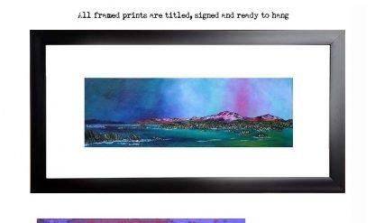 Framed print of Mull & Iona, Scottish Western Isles