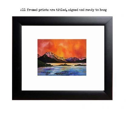 Framed print of Ben Sgritheal and Isle Ornsay, Sound Of Sleat, Isle Of Skye, Scotland.