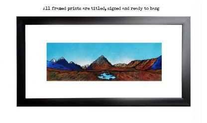 Framed print of Towards The Buachaille, Rannoch Mor, Glencoe and Glen Etive, Scotland.