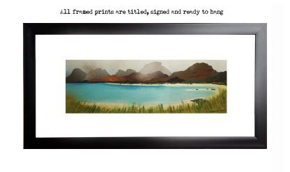 Framed print of Seilebost Beach, Isle of Harris, Outer Hebrides, Scotland.