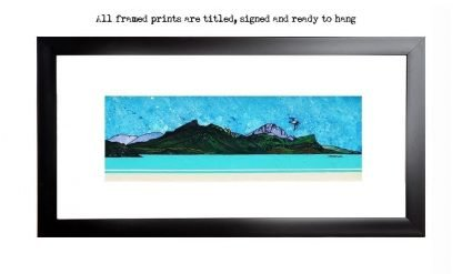 Framed print of Ben Tianavaig from Loch Sligachan, The Isle of Skye, Scottish Inner Hebrides, Scotland