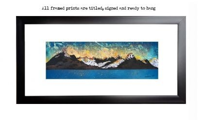 Framed print of The Black Cuillin, Loch Scavaig, Cuillin mountains, Isle Of Skye, Inner Hebrides, Scotland.