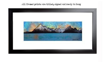 Framed print of the Cuillin from Elgol, Loch Scavaig, The Isle of Skye, Scotland.
